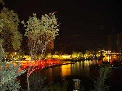 智园夜景喷泉