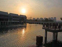 泮河公园夜景